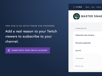 Twitch Forum for streamers