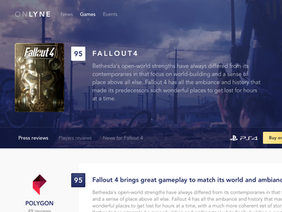 Onlyne — Press reviews for video games reviews press videogames fallout