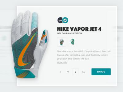NFL Dolphins Gloves