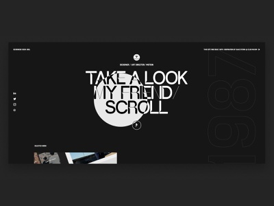 Folio Jesse Noah Zoutewelle typography ux uiux ui folio webflow motion artdirection digital design portfolio