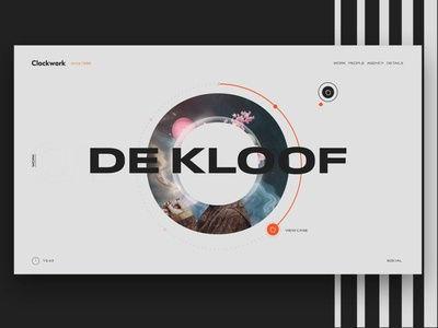 Clockwork Agency Rebranding logo uiux ui motion animation digital redesign rebranding