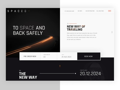 SPACED CHALLENGE 🚀 after effects logo interactive animation design homepage