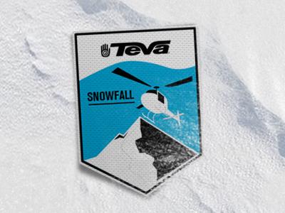 Teva snowfall www.tevasnowfall.nl campaign logo illustration desig snowboard alaska teva batch