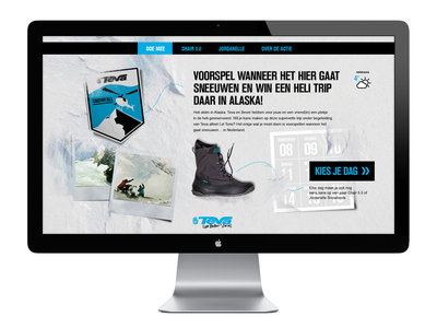 Teva snowfall  webdesign design campain site landingspage shoes snow