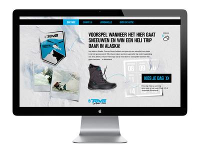 Teva snowfall  webdesign design campain site landingspage shoes snow