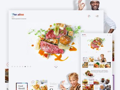 The Nine -  Website Concept
