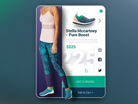 Stella Mccartney Pure Boost - UI/UX Product Card Concept