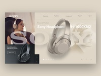 Sony Landing Page Concept