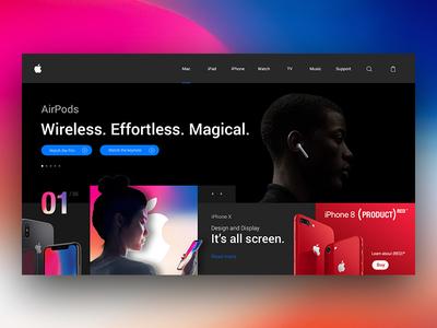 Apple Landing Page Re-Design Concept landing minimal page ui ux web design site apple motion clean