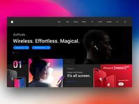 Apple Landing Page Re-Design Concept