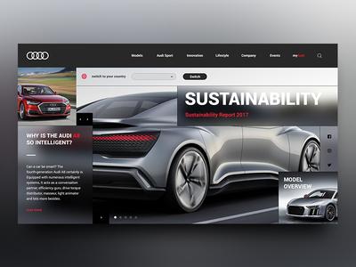 Audi Landing Page Re-Design Concept design car landing minimal page site audi store ui ux web