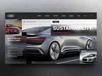 Audi Landing Page Re-Design Concept