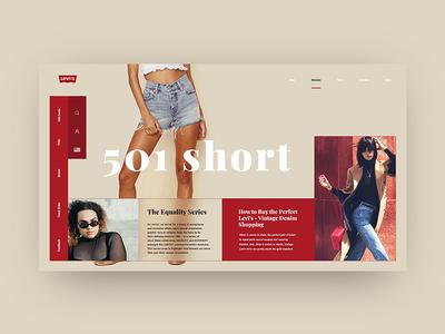 Levi Landing Page Re-Design Concept design fashion landing page site levi ui ux web interface home e-commerce