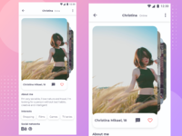 Profile of the dating application - Day 000 UX/UI