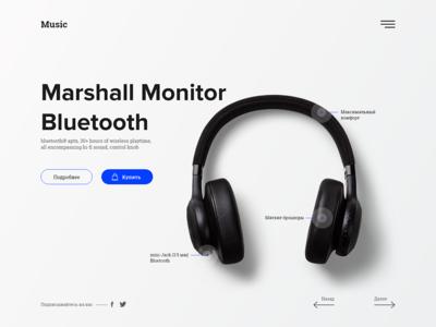 Headphones - Marshall Monitor Bluetooth
