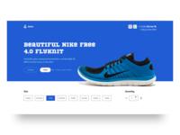 Nike free, UI Concept