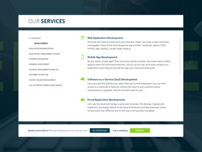 UI/UX Services page clean uiux our services page agency website
