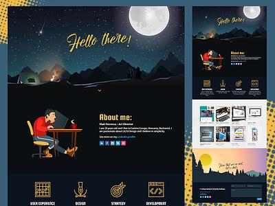 Portofolio Design personal website portofolio
