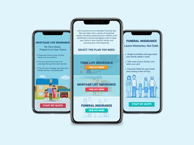 Mobile Insurance Plan insurance mobile app blue mobile ui