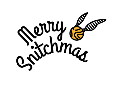 Merry Snitchmas design vector illustration illustrator snitch icon christmas harry potter