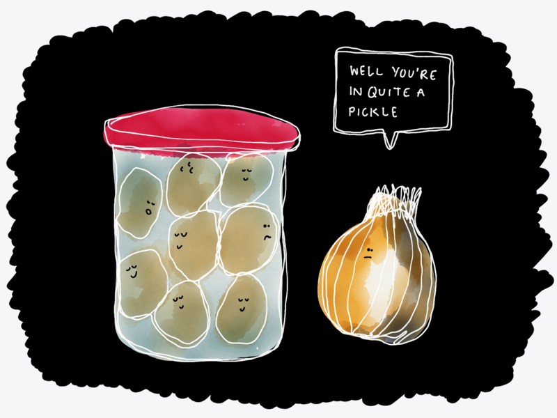 Ha Ha Very Punny No. 3 - Pickle pickles sketch drawing character illustration
