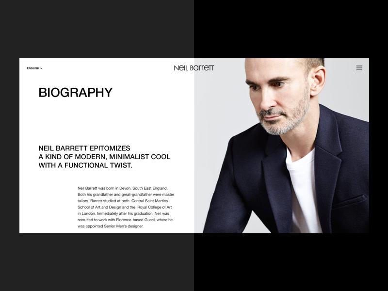 Neil Barrett fashion website web