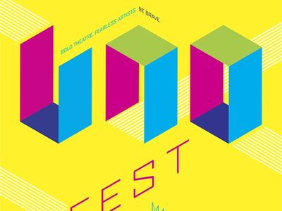 Uno Fest 2013 poster uno festival poster typography isometric rayola creative intrepid theatre