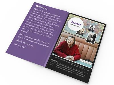 SKAM 2013 season booklet brochure program theatre design collage booklet