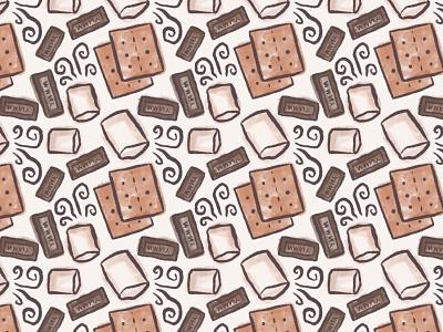 smores pattern illustration procreateapp seamless pattern