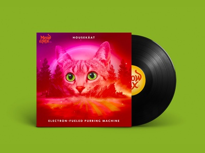 Meow Mix HouseKäat Album Art pet food music edm meow feline layers cover album cat meow mix