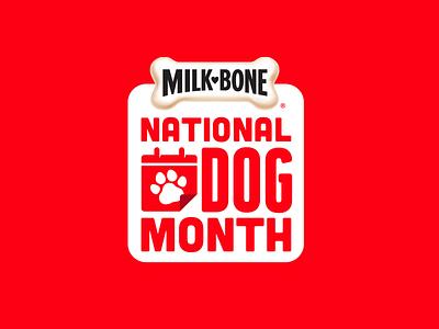 Milk-Bone National Dog Month Mark campaign dog treat red paw calendar month dog milkbone branding
