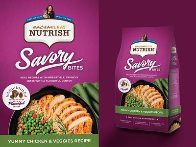 Savory Bites Cat Food Packaging moxie nutrish rachael ray kibble pet food packaging pet cat cat food food photography