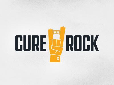 Cure Rock Identity pgh pittburgh bridge benefit cure cancer rock mark logo branding identity