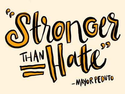 Stronger Than Hate procreate type lettering stronger than hate steel city stronger than steel pittsburgh pgh