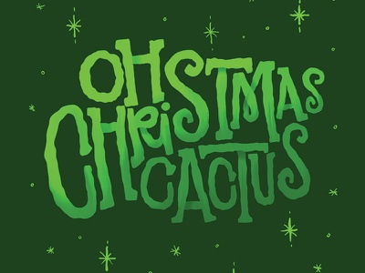 Oh Christmas… Cactus procreate holidaze green holiday christmas lettering cactus