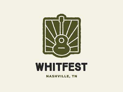 Whitfest Branding whitfest mark tn nashville sunburst guitar branding identity logo music festival