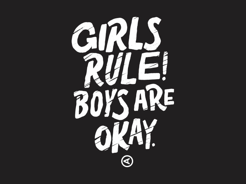 Girls Rule! pittsburgh type lettering tee girls rule actual size