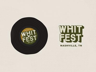 Whitfest Secondary Marks secondary logo mark identity festival shadow type record