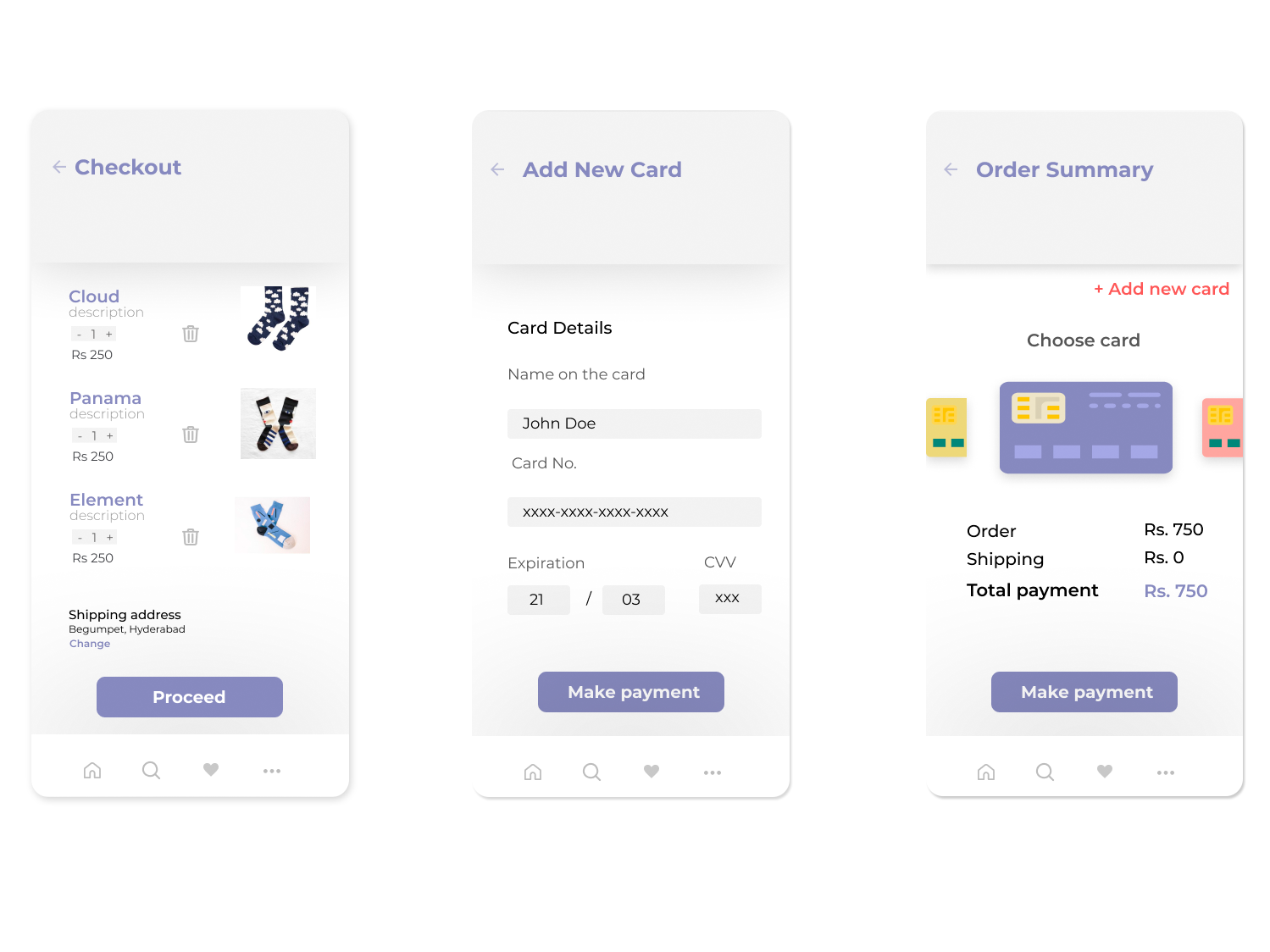 Checkout form UI design ideas by Archana Chittoor on Dribbble