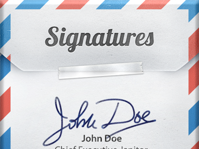 Signatures for iOS noise iphone ipad mail sign signatures email envelope texture ios grain