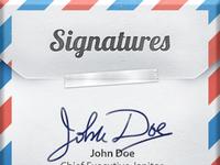 Signatures for iOS