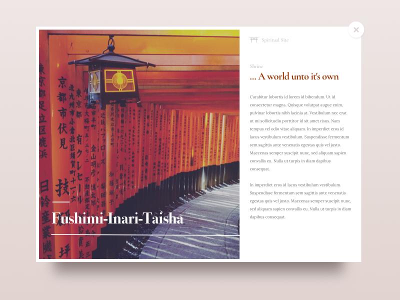 Travel Card clean web design ui japan travel minimal card