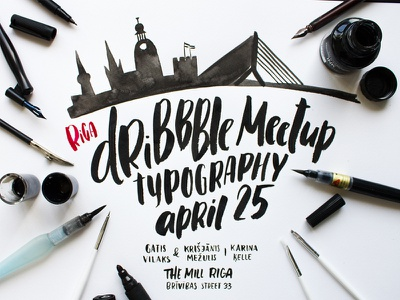 Hand lettered poster poster lettering typography calligraphy
