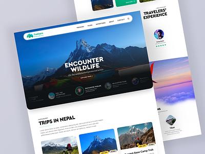 Landing Archive - Trekkers Paradise  (2019) chart app illustration typography navigation design data dashboard branding ui