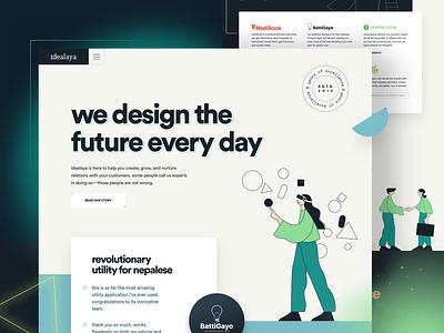 idealaya Home / Landing Page 2020 data minimal vector bar pie-chart grid button ux animation branding graphic design logo illustration design ui chart dashboard typography navigation app