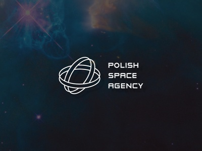 Polish Space Agency logo project poland agency space obervatory cosmos logo