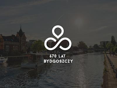 Logo project for 670th anniversary of city Bydgoszcz logotypedesign logotype logo