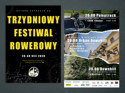 Bicycle festival flyer ad festival bicycle pumptrack downhill urban downhill folleto flyer