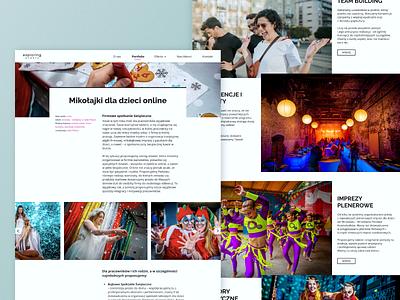 Event agency web redesign offer team building web portfolio event agency interface design web design redesign