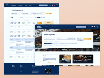 PKP redesign concept [Railway search service] journey train railway service list of search service railway web design redesign pkp